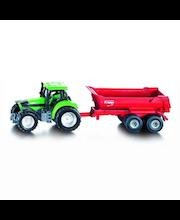 Siku traktori ja kippikärry