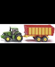 Siku John Deere traktori ja säilörehukärry