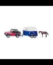 Siku jeeppi ja hevostraileri