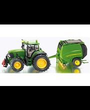 Siku – John Deere 7530 -traktori ja paalain
