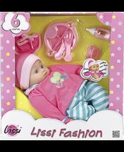 Lissi Fashion puhuva nukke 40 cm ja tarvikkeet