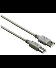 Hama USB A-B johto 1,8 m harmaa