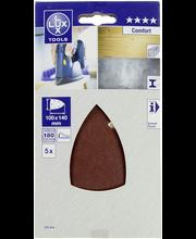 Lux hiomapaperi 100x140mm P180 5kpl Comfort