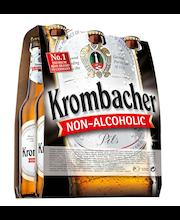 Krombacher Pils Non-Alcoholic 6-pack 33cl, alkoholiton olut