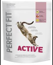 Perfect Fit 750g Active kanaa täysrehu aikuisille kissoille, räätälöityä ravintoa aktiivisille kissoille.
