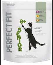 Perfect Fit dry 750g Senior 8+ kana täysrehua, räätälöityä ravintoa ikääntyneille kissoille