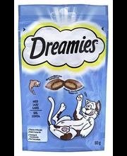 Dreamies 60g lohi täydennysrehua kissoille ja kissanpennuille