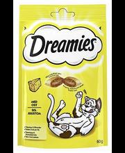 Dreamies 60g juusto täydennysrehua kissoille ja kissanpennuille