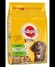 Pedigree dry 2,5kg Light Kanaa, täysrehua koirille