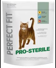 Perfect Fit 750g Adult Pro-Sterile kanaa kissan täysrehu, räätälöityä ravintoa kastroiduille kissoille.