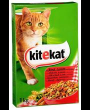 Kitekat 1kg Häränlihaa ja kasviksia täysrehua aikuisille kissoille