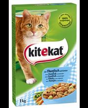 Kitekat 1kg Tonnikalaa ja kasviksia täysrehua aikuisille kissoille