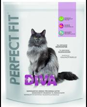 Perfect Fit 750g Diva täysrehua aikuisille kissoille,räätälöityä ravintoa valikoiville kissoille