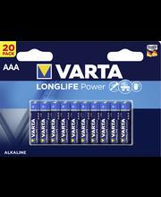 VARTA AAA-alkaliparisto 20-pack