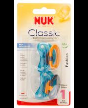 NUK Fashion 0-6kk silikonihuvitutti  2 kpl koko 1
