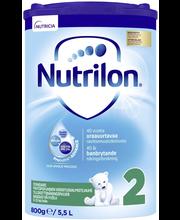 Nutricia Nutrilon 800g Standard 2 maitopohjainen vieroitusvalmistejauhe 6-12kk