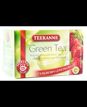 Teekanne 20x1,75g Green Tea Strawberry-Lemongrass, Mansikka-Sitruunaruoho vihreätee, pussitee