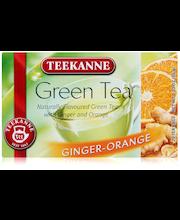 Teekanne 20x1,75g Green Tea Ginger-Orange, Inkivääri-Appelsiini vihreä tee, pussitee