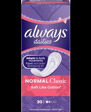 Always 30kpl Normal Soft Like Cotton pikkuhousunsuoja