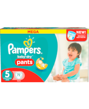 Pampers 72kpl Baby Dry Pants S5 12-18kg housuvaippa