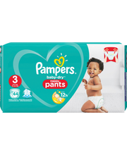 Pampers 44kpl Baby Dry Pants S3 6-11kg housuvaippa