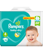 Pampers 86kpl BabyDry S4 8-16kg vaippa