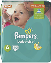 Pampers 40kpl BabyDry S6 15+ kg vaippa