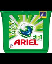 Ariel 24kpl 3in1 Pods White nestemäinen pykinpesutabletti