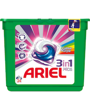 Ariel 24kpl 3in1 Pods Color nestemäinen pykinpesutabletti