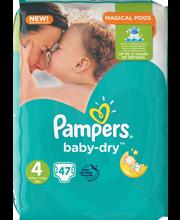 Pampers 47kpl Baby Dry S4 7-18kg vaippa