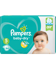 Pampers 44kpl BabyDry S5 11-25kg vaippa