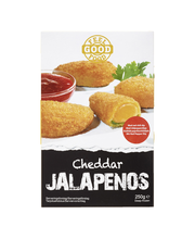 Dencon Foods Feel Good Food 250g cheddar jalapenos ja dippi, pakaste