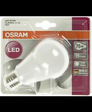 Osram LED STAR CLASSIC A75 raikas valkoinen E27