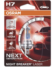 Osram Night Breaker Laser +150% H7 polttimo