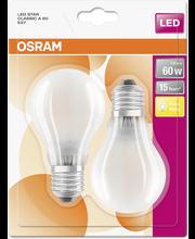 OSRAM led star vakiolamppu A60 7W/827 230V himmeä lasikupu E27 BLI2