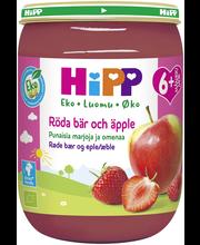 HiPP Luomu 190g Punaisia marjoja ja omenaa soseena 6kk