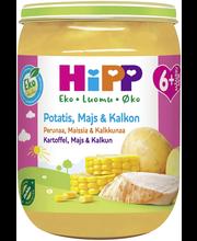 Hipp 190g Luomu Perunaa, maissia & kalkkunaa 6kk
