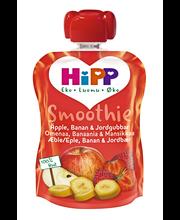 HiPP 90g Luomu Smoothie Omenaa, Banaania & Mansikkaa soseena 6kk