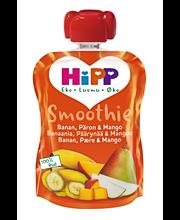 HiPP 90g Luomu Smoothie Banaania, Päärynää & Mangoa 4kk