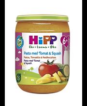 HiPP 190g Luomu Pastaa, tomaattia ja kesäkurpitsaa 6kk