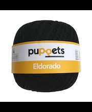 Virkkauslanka Eldorado Puppets, musta