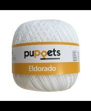 Virkkauslanka Eldorado Puppets, valkoinen