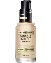 Max Factor Miracle Match Blur & Nourish Foundation 40 Light Ivory