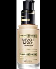 Max Factor Miracle Match Blur & Nourish Foundation 40 Light Ivory