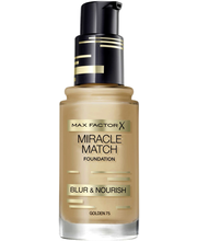 Max Factor Miracle Match Blur & Nourish Foundation 75 Golden