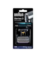 Braun 31S Combi Pack, hopea/harmaa