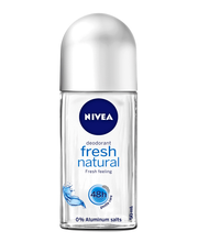 NIVEA 50ml Fresh Natural Deo Roll-on deodorantti 0% Aluminium Salts