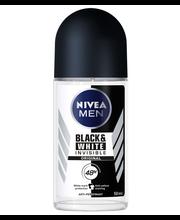NIVEA MEN 50ml Black & White Invisible Original Deo Roll-on -antiperspirantti