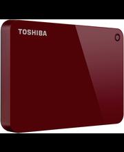 Toshiba ulkoinen kovalevy Canvio Advance 1Tt punainen