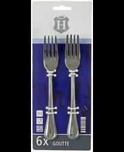 H-line Goutte ruokahaarukka 6 kpl/pkt